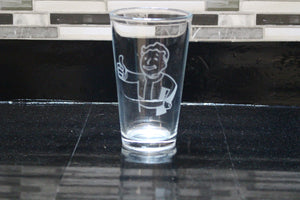 Vault Boy Inspired Pint Glass