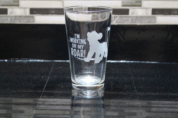 Lion King Inspired Pint Glass