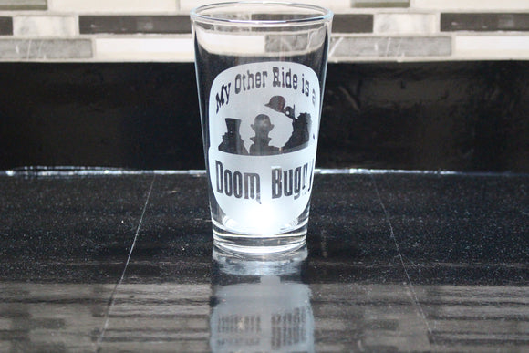 Haunted Mansion Doombuggy Inspired Pint Glass
