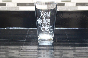 Tangled Best Day Ever Inspired Pint Glass