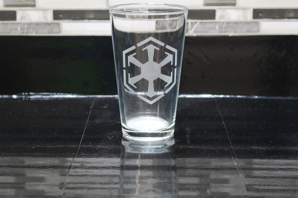 Sith Inspired Pint Glass