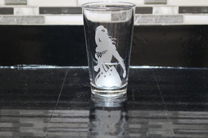 Wonder Woman Inspired Silhouette Pint Glass