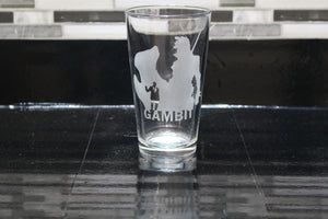 Gambit Inspired Pint Glass