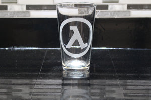 Half life Inspired Pint Glass