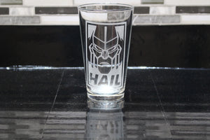 Megatron Hail Inspired  Pint Glass