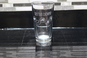 Settlers Inspired Pint Glass