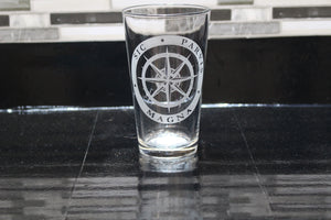 Uncharted Inspired Pint Glass