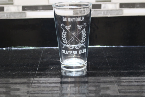 Sunnydale Slayers Buffy Inspired Pint Glass