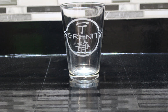 Serenity Inspired Firefly Pint Glass