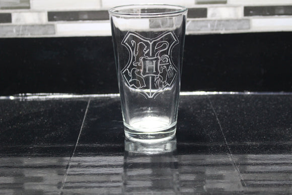 Hogwarts Harry Potter  Inspired Pint Glass