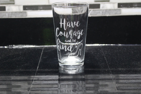 Cinderella Inspired Pint Glass