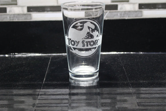 Toy Story Inspired Pint Glass