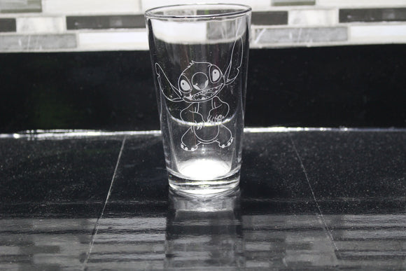 Stitch Inspired Pint Glass