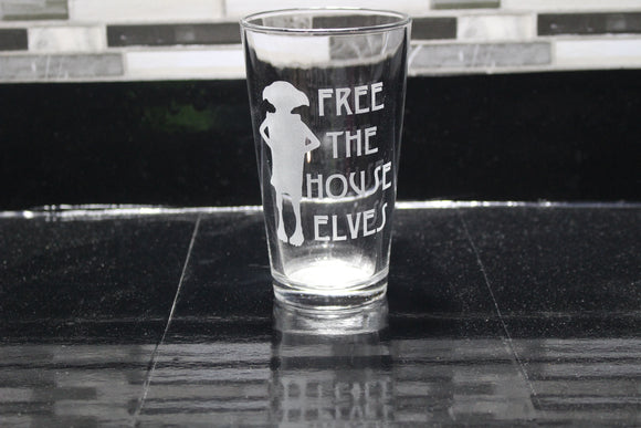 Dobby Harry Potter  Inspired Pint Glass