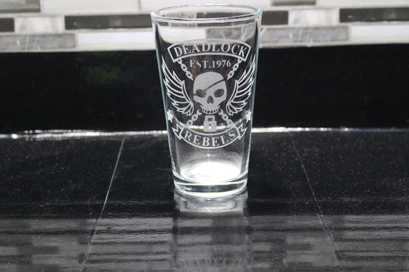 Ashe Overwatch Inspired Pint Glass