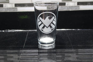 Shield Inspired Pint Glass