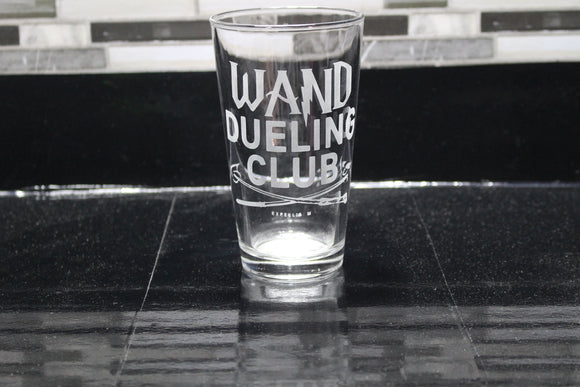 Wand Dueling Club Harry Potter  Inspired Pint Glass
