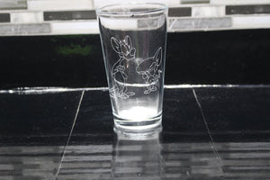 Pinky and the Brain Inspired  Pint Glass