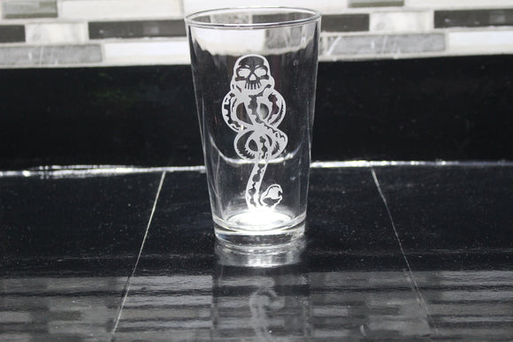 Death Eater Harry Potter  Inspired Pint Glass