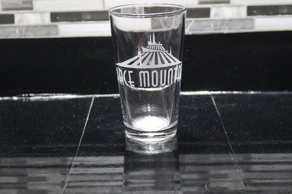 Space Mountain Inspired Pint Glass