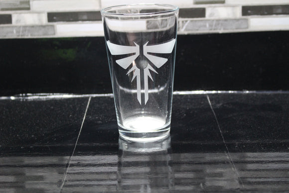 Last of Us Inspired Pint Glass