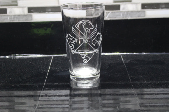 Boho HogwartsHarry Potter  Inspired Pint Glass