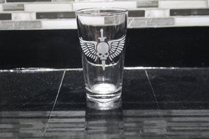 Warhammer Space Marine Logo Inspired Pint Glass