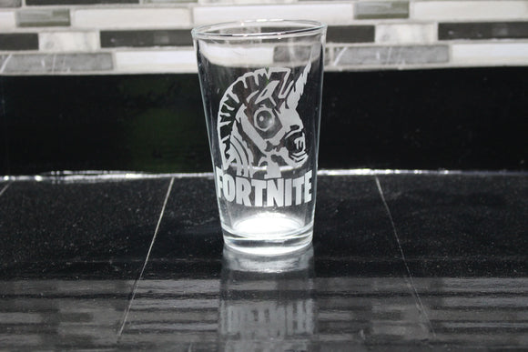 Fortnite Inspired Pint Glass