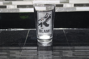 Warhammer Blam Inspired Pint Glass