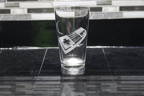 NES Controller Inspired Pint Glass