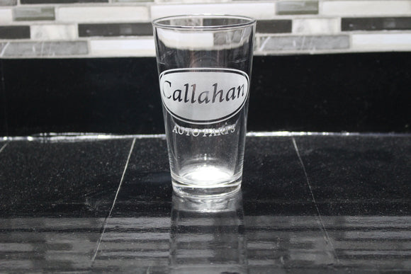 Callahan Auto Tommy BoyInspired  Pint Glass