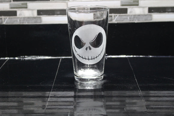 Jack Skellington Inspired Pint Glass