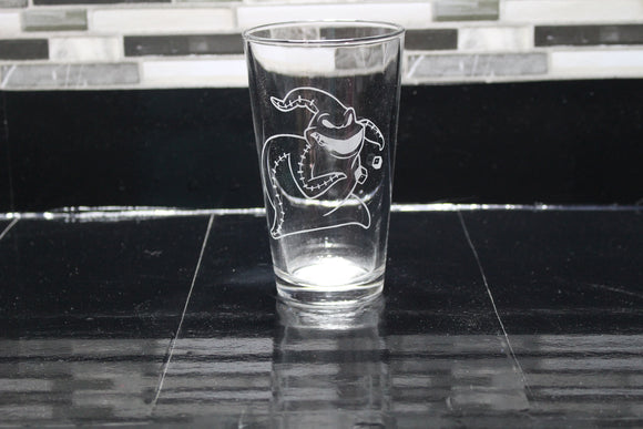 Oogie Boogie Inspired Pint Glass