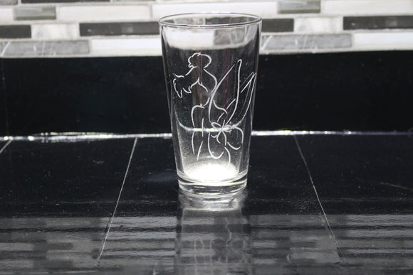 Tinkerbell Inspired Pint Glass
