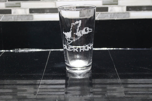 Duck Hunt Inspired Pint Glass