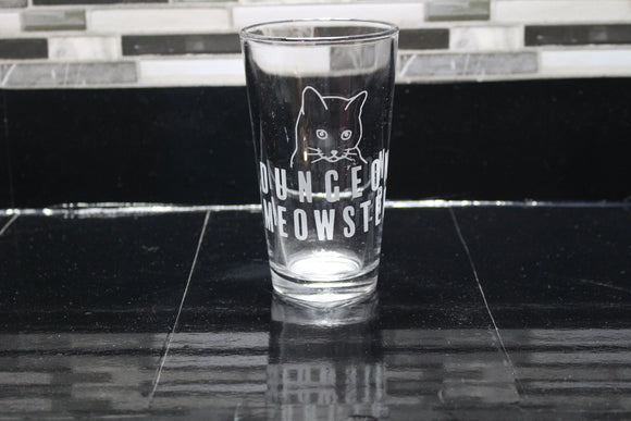Dungeon Meowster Inspired Pint Glass