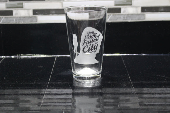 Failed City Arrow Inspired Pint Glass