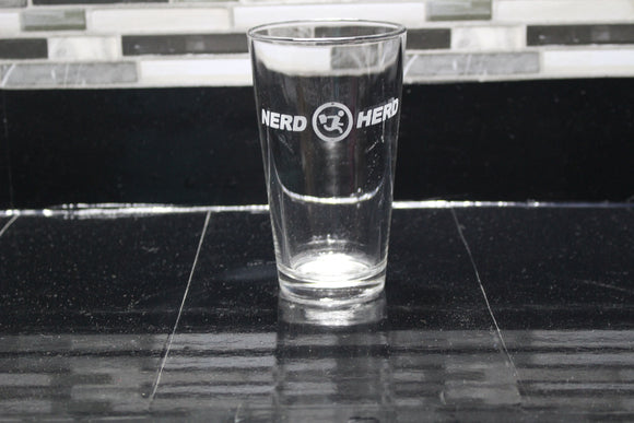 Chuck Nerd Herd Pint glass