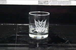 Decepticon Rocks Glass