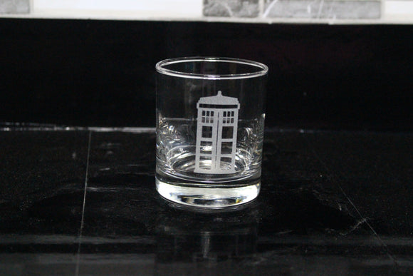 Tardis Rocks Glass