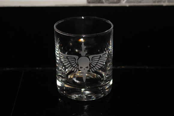 Space Marine Rocks Glass