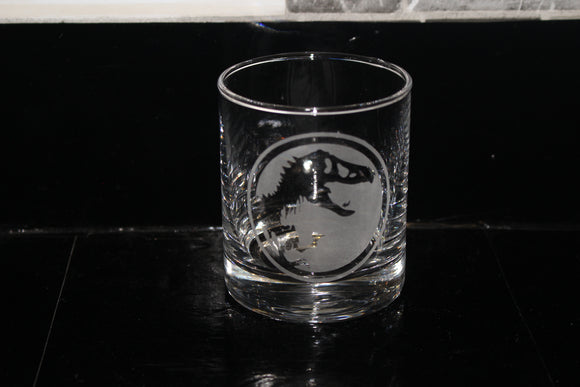 Jurassic Park Rocks Glass