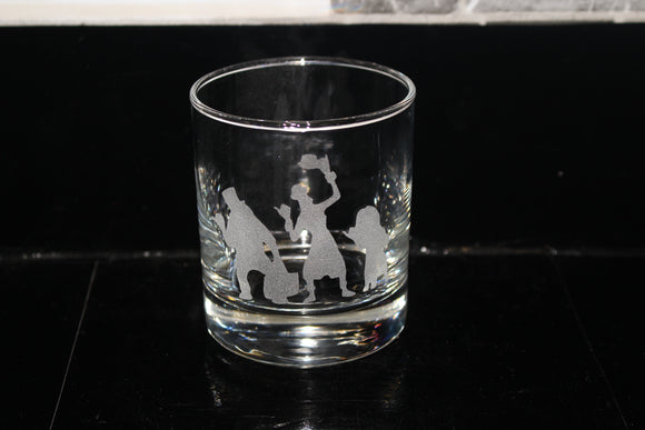 Hitchhiking ghosts haunted mansion Rocks Glass