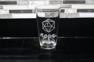 Dungeons and Dragons D20 Inspired Pint Glass