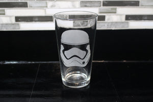 Storm Trooper Inspired Pint Glass
