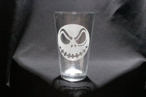 Jack Pumpkin King Inspired Pint Glass