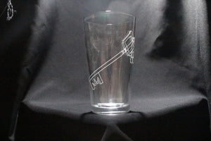 Keyblade Kingdom Hearts Inspired Pint Glass