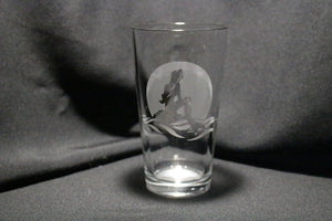 Mermaid Silhouette Pint Glass Ariel Inspired Pint Glass