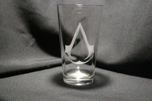 Assassin's Creed Inspired Pint Glass