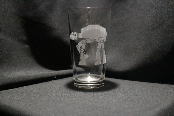 AtAt Silhouette Pint Glass
